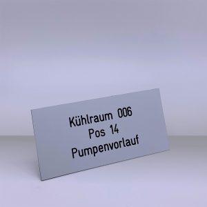 Produkte Bezeichnungsschilder - Beispiel 8