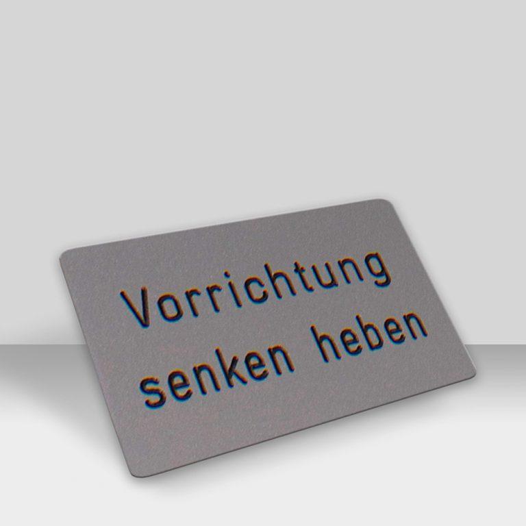 Produkte Maschinenschilder - Beispiel 3